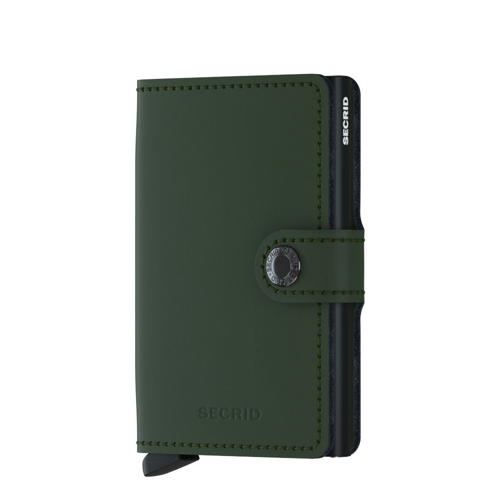 46ccab44127 Secrid Mini Wallet Portemonnee Matte Green/Black