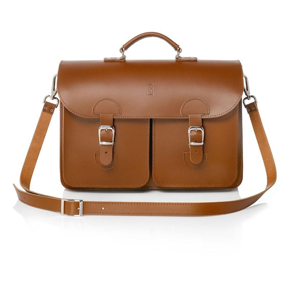 Schoudertas Voor School : Oldschool bags schooltas extra large kastanje bruin