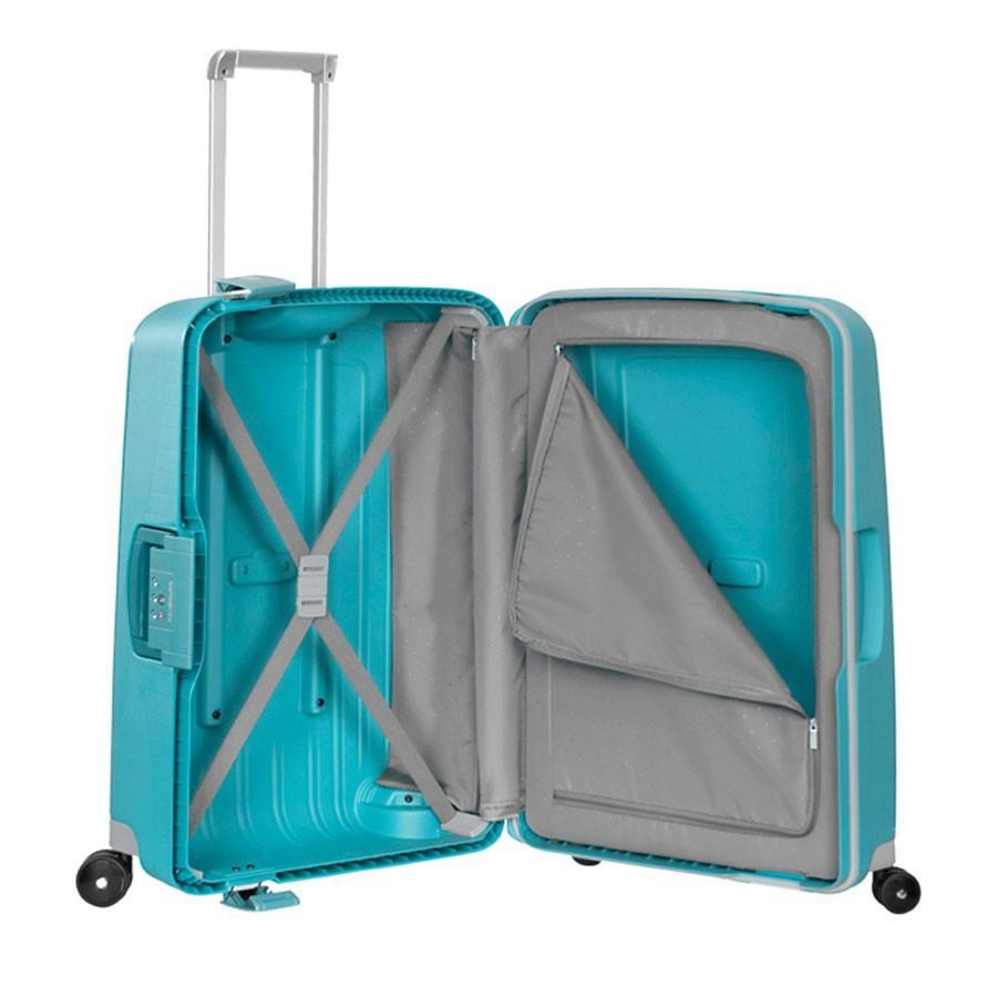 samsonite s 39 cure spinner 69 aqua blue. Black Bedroom Furniture Sets. Home Design Ideas