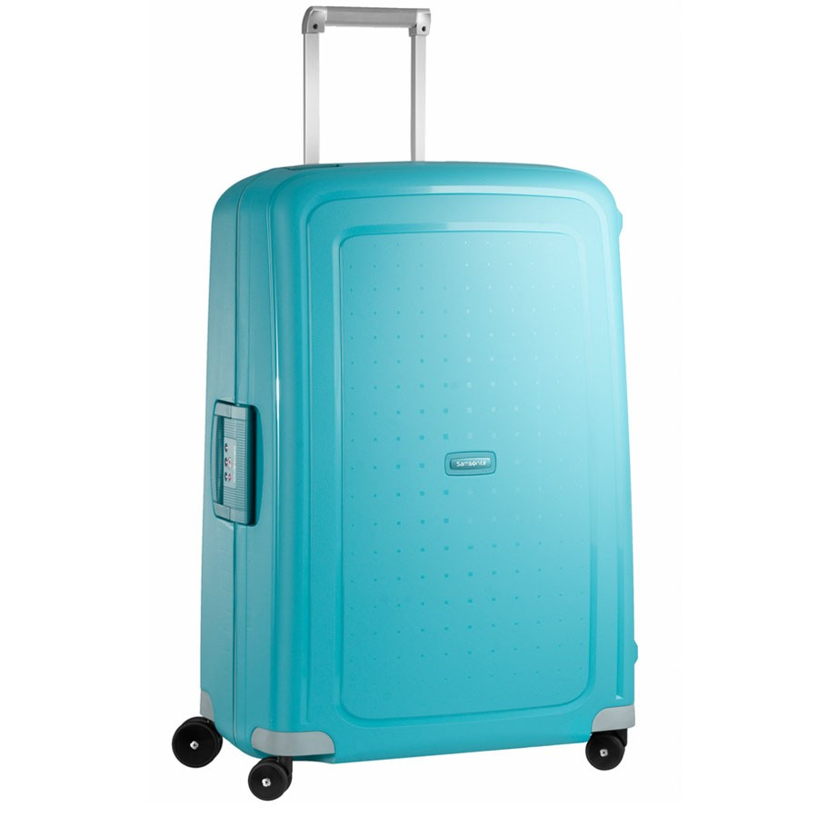 samsonite s 39 cure spinner 75 aqua blue. Black Bedroom Furniture Sets. Home Design Ideas