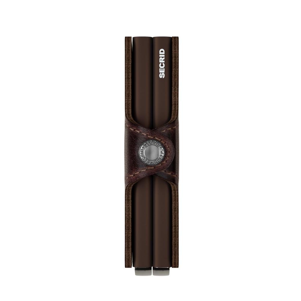 Portemonnee Chocolat Vintage Portefeuille Double Secrid EhQy1QYn