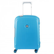Delsey Belfort Plus Spinner Cabin Trolley Slim 55 Teal Bleu