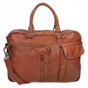 DSTRCT Pearl Street Business Laptoptas 15.6' Cognac 26220