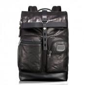 Tumi Alpha Bravo Luke Roll-Top Leather Rugzak Black