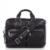 Tumi Alpha Bravo Anderson Slim Commuter Leather Brief Black