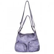 DSTRCT Stonehill Road Hobo Bag Two Pocket Light Grey