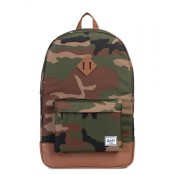 Herschel Heritage Rugzak Woodland Camo/Tan Synthetic Leather