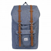 Herschel Little America Rugzak Dark Chambray Crosshatch/ Tan Synth Leather