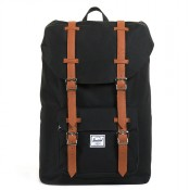 Herschel Little America Mid Volume Rugzak Black/Tan PU