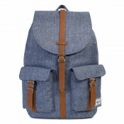 Herschel Dawson Rugzak Dark Chambray Crosshatch/ Tan Syn Leather
