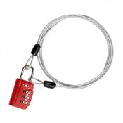 Eagle Creek 3-Dail TSA Lock & Cable Orange