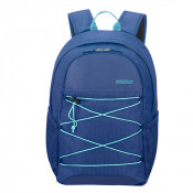 """American Tourister Road Quest Laptop Backpack M 15.6"""" Deep Water Blue"""