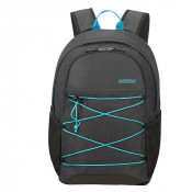"""American Tourister Road Quest Laptop Backpack M 15.6"""" Graphite/ Turquoise"""