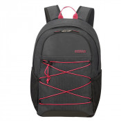 """American Tourister Road Quest Laptop Backpack M 15.6"""" Graphite/ Pink"""