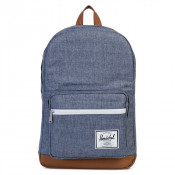 Herschel Pop Quiz Rugzak Dark Chambray Crosshatch/Tan