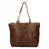 MicMacbags Phoenix Shopper Schoudertas Donkerbruin 16556