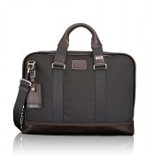 Tumi Alpha Bravo Andrews Slim Brief Hickory 2
