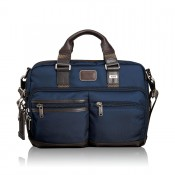 Tumi Alpha Bravo Anderson Slim Commuter Brief Navy 2