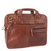 Spikes & Sparrow Bronco Business Bag A4 Brandy 23637