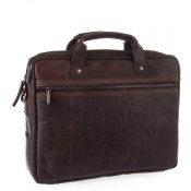 Spikes & Sparrow Bronco Business Bag Dark Brown 24244