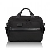 Tumi Alpha 2 Business Small Screen Laptop Brief Expandable Black