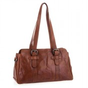 Spikes & Sparrow Bronco Shopper Zip Bag Brandy 292B131