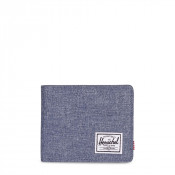 Herschel Roy Plus Coin Portemonnee RFID Dark Chambray Crosshatch