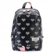 Zebra Trends Kinder Rugzak L Crossed Hearts