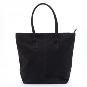 Zebra Trends Natural Bag Kartel Rits Black Suedine