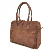 "Barbarossa Ruvido Dames Laptop Schoudertas 15.4"" Coffee"