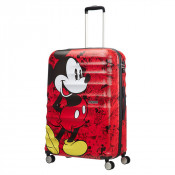American Tourister Wavebreaker Disney Spinner 77 Mickey Cosmics Red