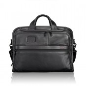 Tumi Alpha 2 Business Leather Organizer Portfolio Brief Black