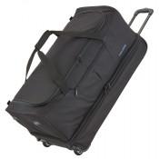Travelite Basics Wheeled Duffle 70cm Expandable Black/Blue