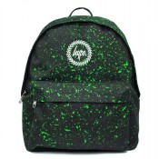 Hype Speckle Rugzak Black/ Neon Green