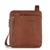 "Piquadro Black Square Crossbody Bag 9.7"" Tobacco"