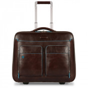 "Piquadro Blue Square Business Trolley 15.6"" Mahogany"