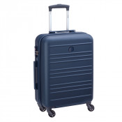 Delsey Carlit 4 Wheel Trolley Cabin Slim 55 Blue