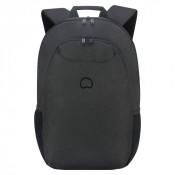 "Delsey Esplanade Laptop Backpack 2-CPT 15.6"" Deep Black"