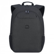 "Delsey Esplanade Laptop Backpack 2-CPT 17.3"" Deep Black"