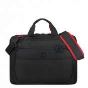 "Delsey Parvis Plus Laptop Bag 1-CPT 17"" Black"