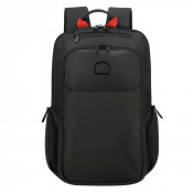 "Delsey Parvis Plus Backpack 2-CPT 15.6"" Black"