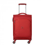Delsey U-Lite Classic 2 Cabin Trolley Case 4 Wheel 55 Red