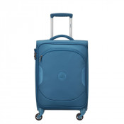 Delsey U-Lite Classic 2 Cabin Trolley Case 4 Wheel 55 Cyan Blue