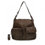 DSTRCT Stonehill Road Hobo Bag Two Pocket Taupe