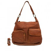 DSTRCT Stonehill Road Hobo Bag Two Pocket Cognac