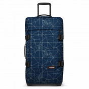 Eastpak Tranverz M Trolley Cracked Blue TSA
