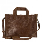 Myomy My Paper Bag Mini Handbag Cross Body Bubble Brandy