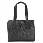Myomy My Paper Bag Handbag Zip Bubble Black