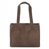 Myomy My Paper Bag Handbag Zip Hunter Waxy Taupe