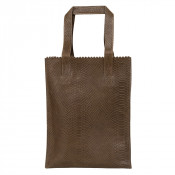 Myomy My Paper Bag Long Handle Zip Anaconda Taupe
